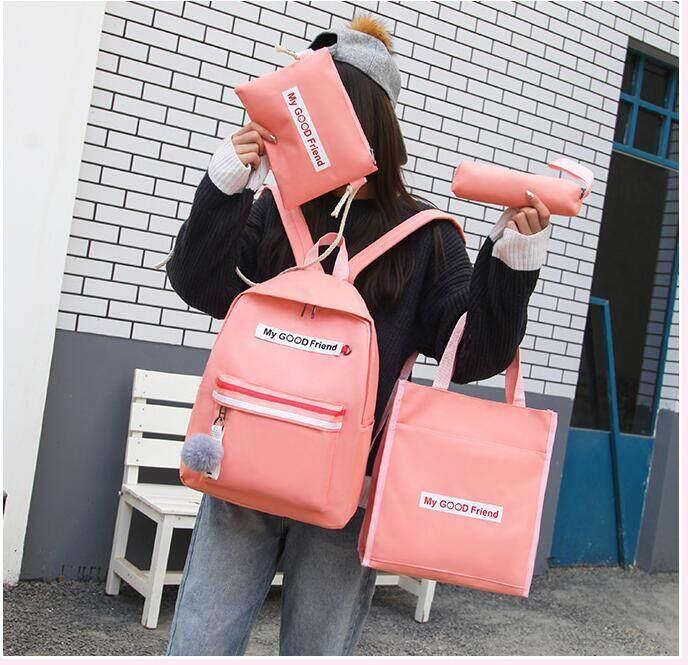 กระเป๋าสะพายพาดลำตัว นักเรียน ผู้หญิง วัยรุ่น ปราจีนบุรี กระเป๋าเป้เซท4ชิ้น⚡️⚡️ My Gd Friend  M 261