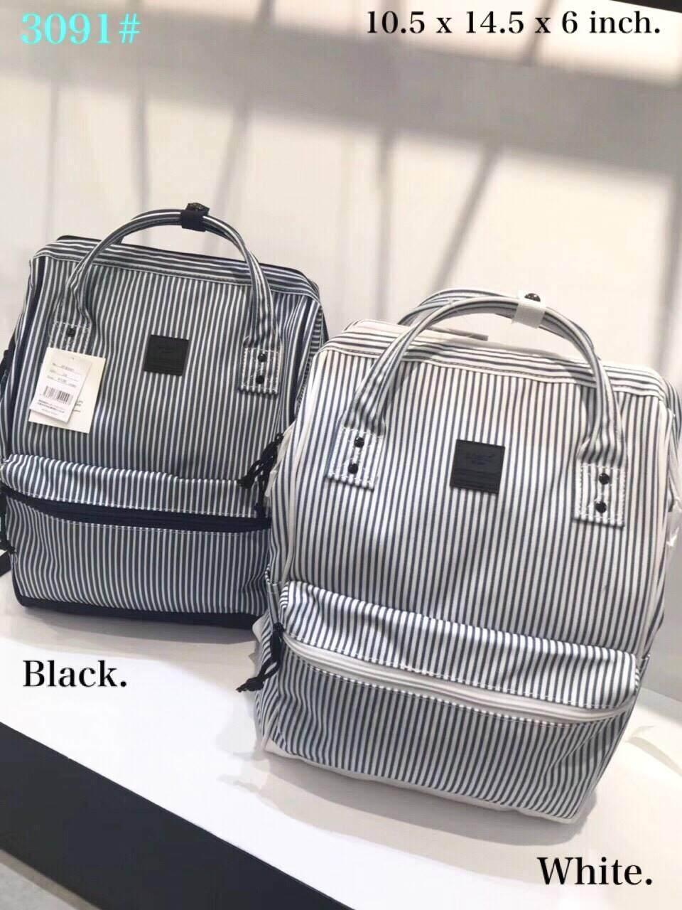 """สอนใช้งาน  พิษณุโลก Anello Canvas Rucksack Mini """"(ของแท้ 100% )   กระเป๋าเป้เนื้อผ้าแคนวาส กันน้ำ รูปทรงน่ารัก"""