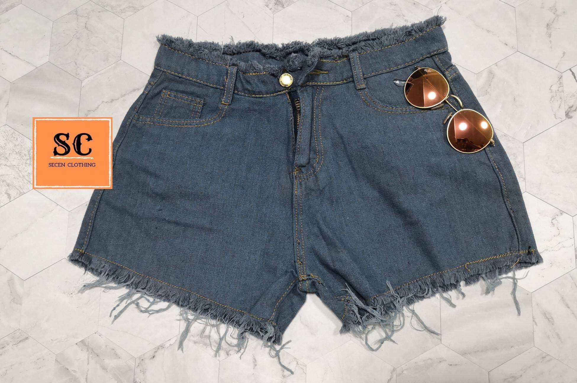 ขายดีมาก! SECEN STYLE - กางเกงยีนส์ขาสั้น แฟชั่น มีเก็บเงินปลายทาง ส่งด่วน kerry   --พร้อมส่ง-- (รุ่น J-001)