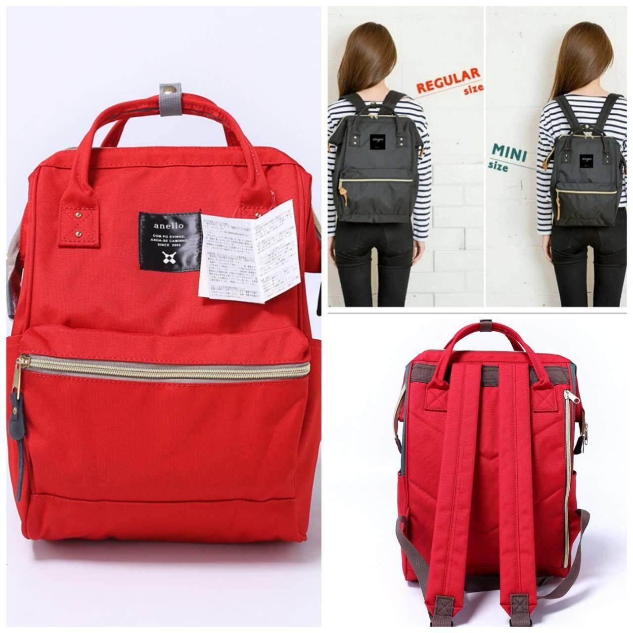 สุพรรณบุรี Anello Mini Backpack แดงสด