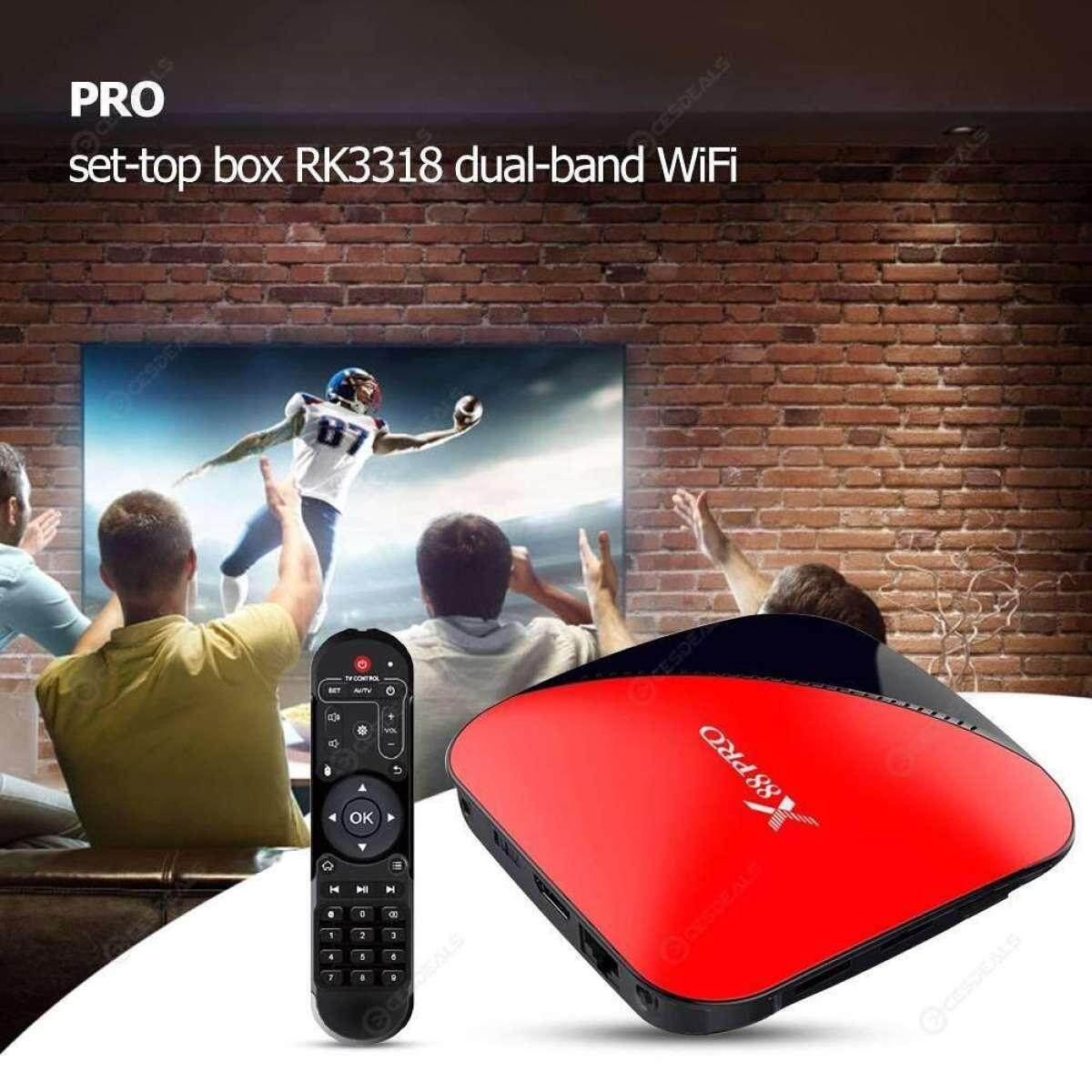 นครนายก X88 Pro 64G Android 9.0 TV Box Rockchip RK3318 4 Core 2.4G&5G Wifi 4K HDR Set Top Box USB 3.0 Support 3D Movie