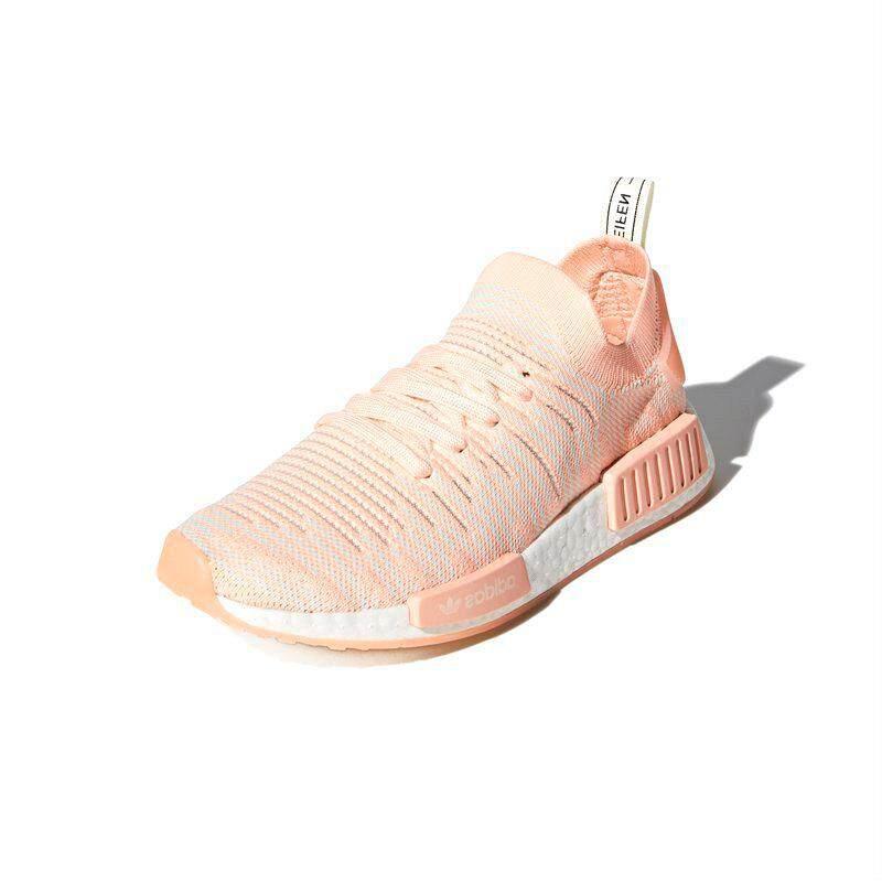 สอนใช้งาน  กระบี่ ADIDAS รองเท้าลำลองแฟชั่น หญิง NMD_R1 STLT PRIMEKNIT SHOES แท้ สี  CLEAR ORANGE / CLOUD WHITE