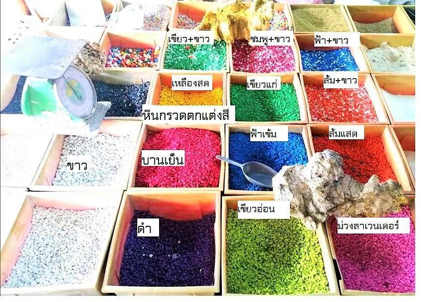 หินกรวดแม่น้ำ ตกแต่งสีม่วงลาเวนเดอร์ สำหรับตกแต่งตู้ปลา หรือ ประดับต้นไม้ หรืองาน DIY ต่างๆ จำนวน 1 กิโลกรัม