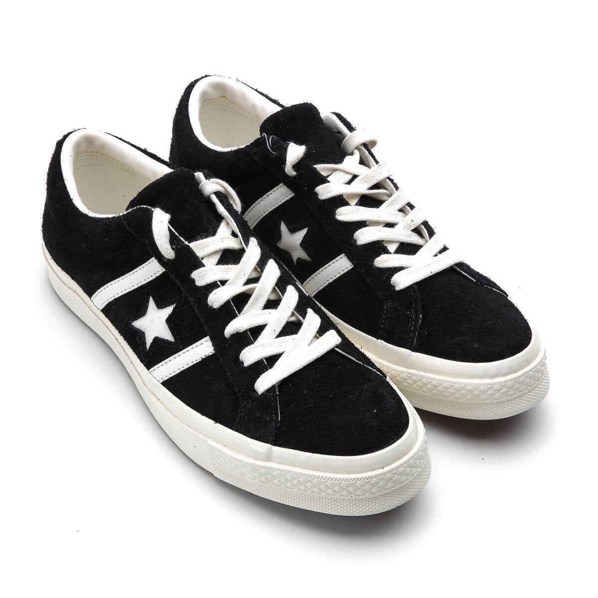 การใช้งาน  พัทลุง CONVERSE  รองเท้าผ้าใบผู้ชาย/ผู้หญิง รุ่น ONE STAR ACADEMY - 164525CS9BW (BLACK)