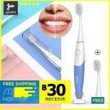 แปรงสีฟันไฟฟ้า ทำความสะอาดทุกซี่ฟันอย่างหมดจด สระแก้ว geesim G01clean electric toothbrush Dentral  สีขาว จำนวน 2 ชิ้น แพ็ค แปรงสีฟันไฟฟ้า Electric toothbrush แปรงสีฟัน 360 องศา ผลิตภัณฑ์ดูแลฟัน ผลิตภัณฑ์ทำความสะอาดฟัน  แปรงสีฟันคลื่นเสียงอัจฉริขภาพฟัน Electric Toothbrushes