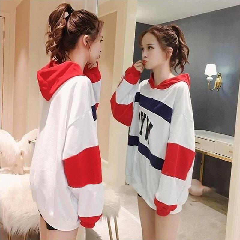 midsummer New!! เสื้อฮู้ดแขนยาว เสื้อมีฮู้ด เสื้อยืดแฟชั่นผู้หญิง แนวหวานสดวัยรุ่นน่ารัก #a331