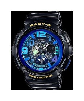 CasioBaby-G นาฬิกาข้อมือผู้หญิง สายเรซิ่น รุ่น BGA-190GL-1BDG-สีดำ