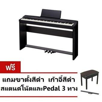 CASIO เปียโนไฟฟ้า Digital Piano PX-160 BK +StandStand+Sustain Pedal SP-33C2+Adapter - สีดำ ประกันCMG 1 ปี
