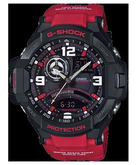Casio G-Shock นาฬิกาข้อมือผู้ชาย สายเรซิ่น รุ่น GA-1000-4BDR-สีดำ/แดง