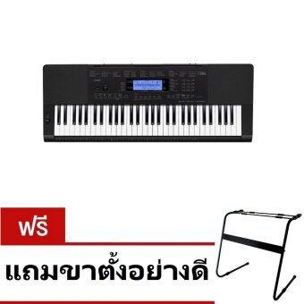 CASIO คีย์บอร์ด Keyboard CTK-5200 Adapter AD-5X (2010) 61K - Black แถมขาตั้ง CS-045