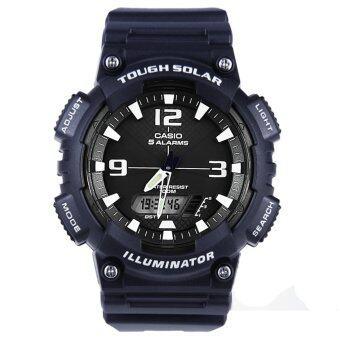 Casio นาฬิกาข้อมือผู้ชายสาย เรซิ่นสีดำ รุ่น AQ-S810W-2A2 (Navy) / ประกัน CMG