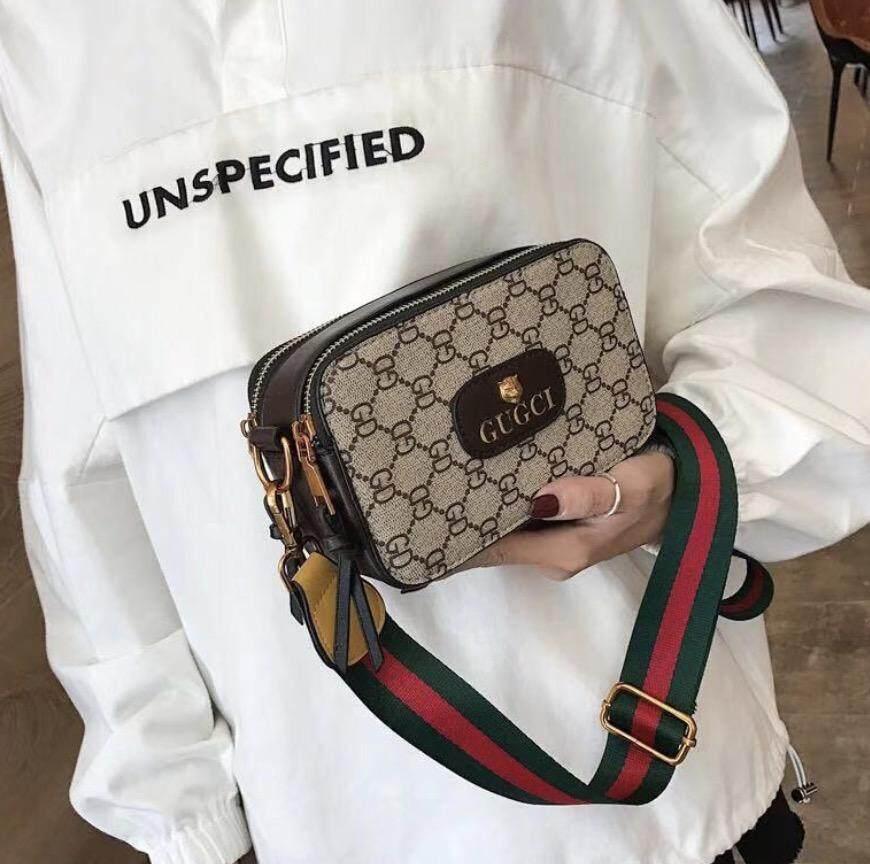 กระเป๋าเป้สะพายหลัง นักเรียน ผู้หญิง วัยรุ่น ชัยนาท กระเป๋าสะพายไหล่ กระเป๋าผู้หญิง แฟชั่น ลายgugci bag