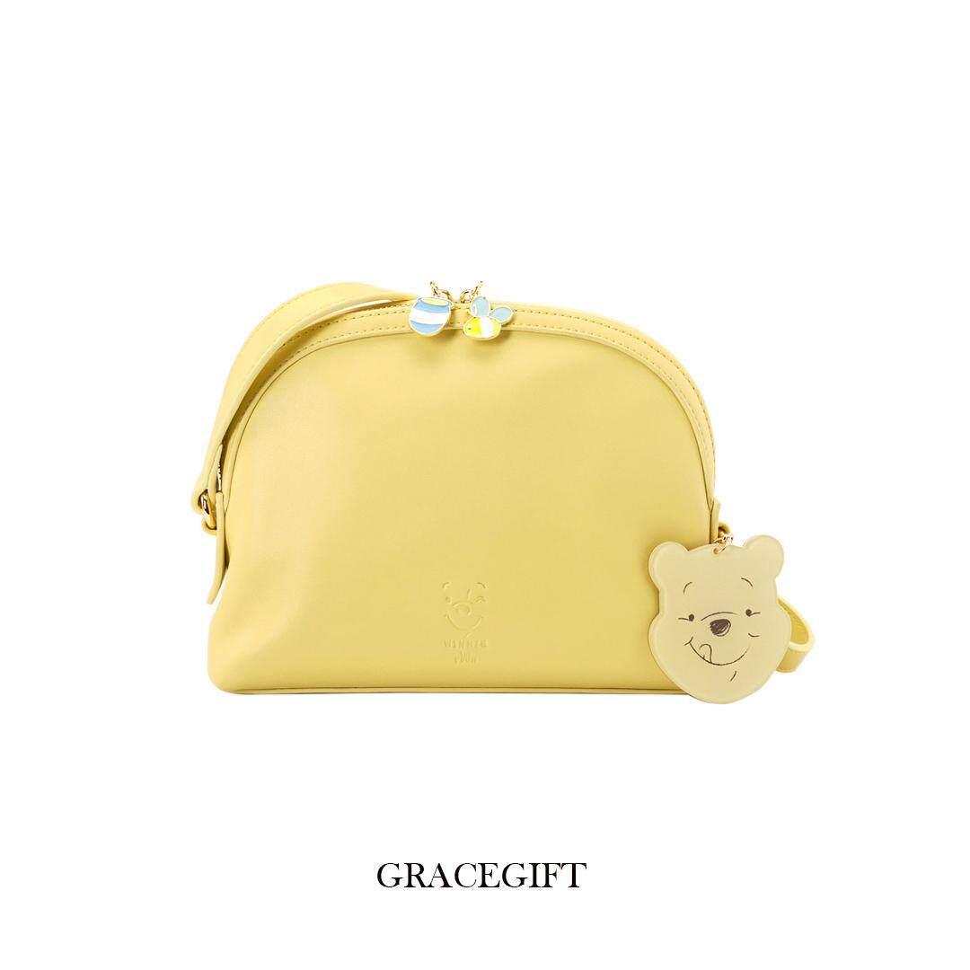 กระเป๋าถือ นักเรียน ผู้หญิง วัยรุ่น โคราช  พร้อมส่ง  Winnie the Pooh acrylic charm domed satchel bag