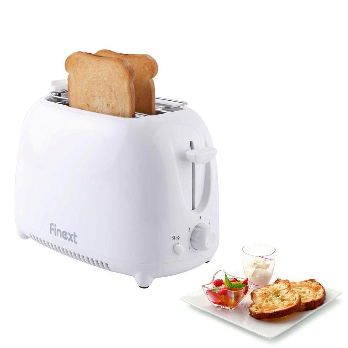สอนใช้งาน  แพร่ FINEXT เครื่องปิ้งขนมปัง รุ่น THT-8866  ผลิตจากสแตนเลส คุณภาพดี สีขาว Toaster