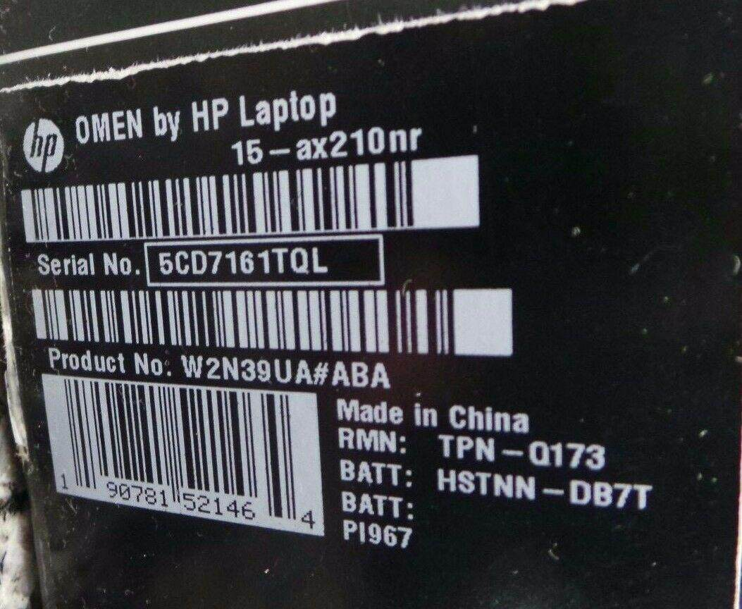 สุรินทร์ NEW HP OMEN 15-ax250wm 15.6  i7-770HQ QC GTX 1050Ti