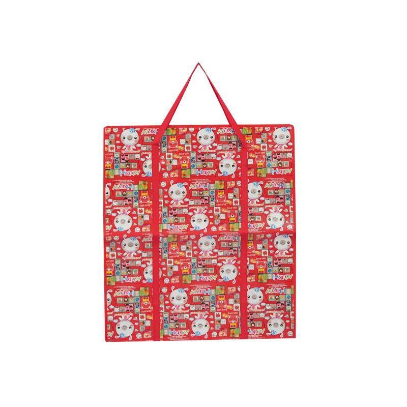 กระเป๋าถือ นักเรียน ผู้หญิง วัยรุ่น สระแก้ว Cute Bag ถุงเก็บของ  ขนาดใหญ่ ทรงตั้ง  ถุงใส่ของ ถุงกระสอบ ถุงเดินทาง ถุงใส่เสื้อผ้า ถุงปิ่นโต ถุงปิกนิก  70x80x30cm  แดง   กระต่ายขาวHappy