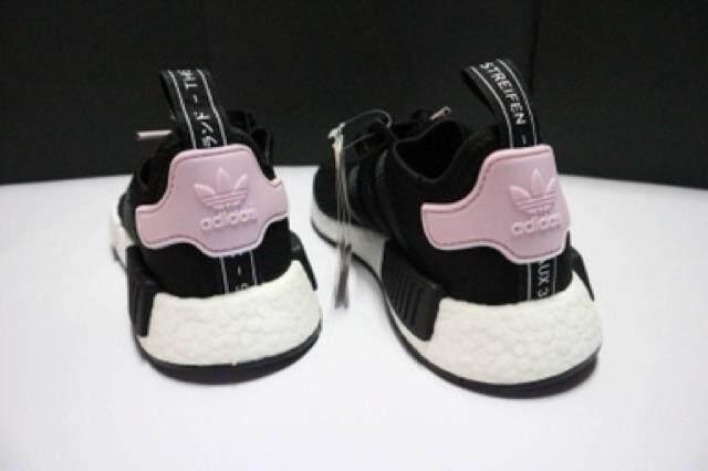 ตาก พร้อมส่ง : รองเท้า Adidas NMD R1 W (B37649) ดำท้ายชมพู ของแท้