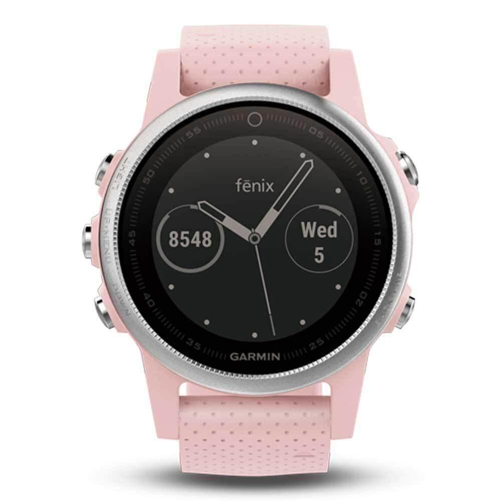 น่าน Garmin Fēnix 5S GM-010-01685-46 Smart Digital Pink Meringue silicone Unisex Smartwatch