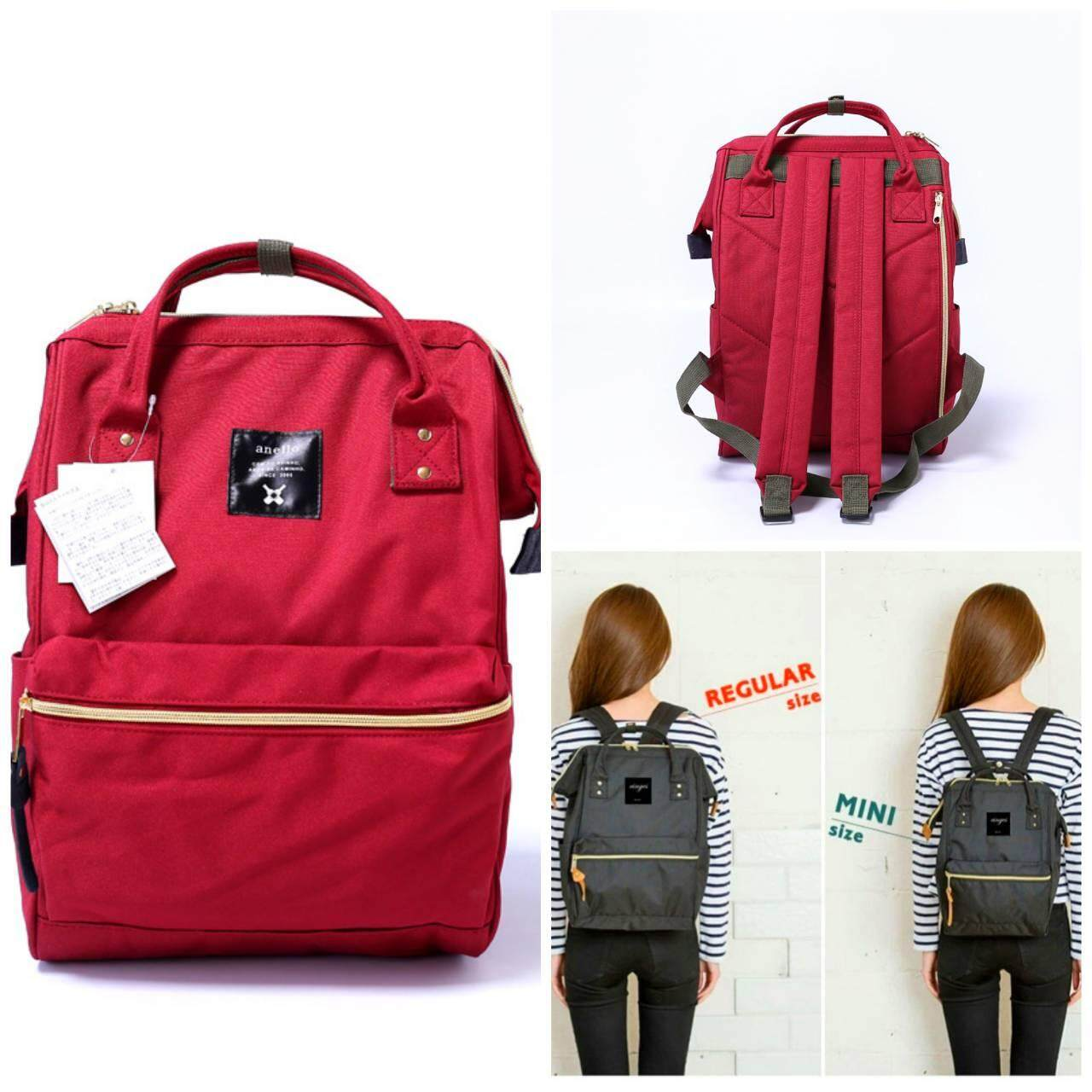 พิจิตร Anello Mini Backpack Red Wine