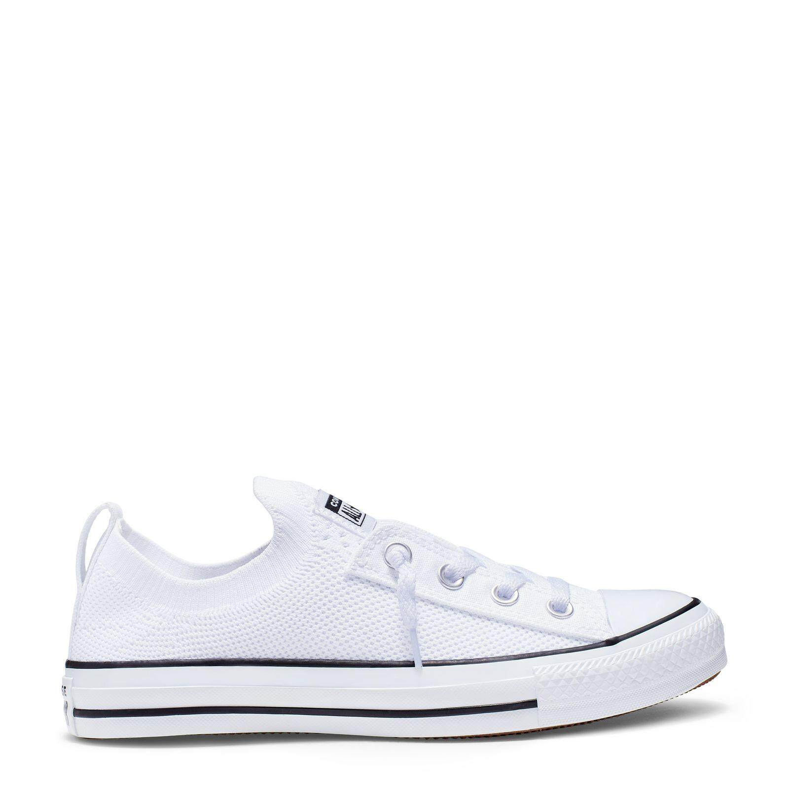 สอนใช้งาน  ขอนแก่น CONVERSE CHUCK TAYLOR ALL STAR SHORELINE KNIT - SLIP - WHITE/BLACK/WHITE - WOMEN - 565490C - 565490CF9WW