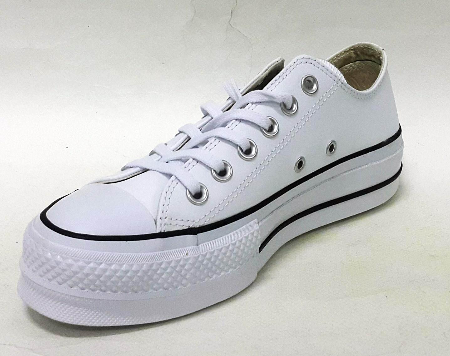 สอนใช้งาน  สกลนคร รองเท้า converse หนังแท้ รุ่น CHUCK TAYLOR ALL STAR LIFT CLEAN – OX – LEATHER 561680 CWW