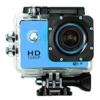 Coco SportsAction Camera HD 1080p +WIFI+Tachograph Car Camera กล้องกีฬา ( สีน้ำเงิน )