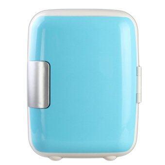 coco ตู้เย็นเล็กแบบพกพา รุ่น Mini 4L - สีขาว Car refrigerator (Blue)