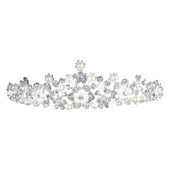 Crystal LoveSilver Alloy Rhinestone Hair Comb Crown Pin Styling Accessories Sets