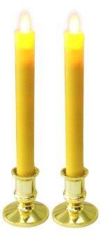 CSC POWERเทียนLEDไฟสบัดพร้อมเชิงเทียน รุ่น C013-Y (Yellow)