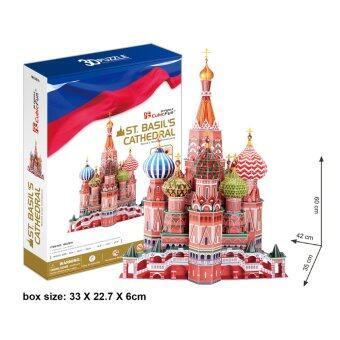 CubicFun 3D Puzzle St.Basil's Cathedral มหาวิหารเซนต์เบซิล จิ๊กซอว์ 3 มิติ