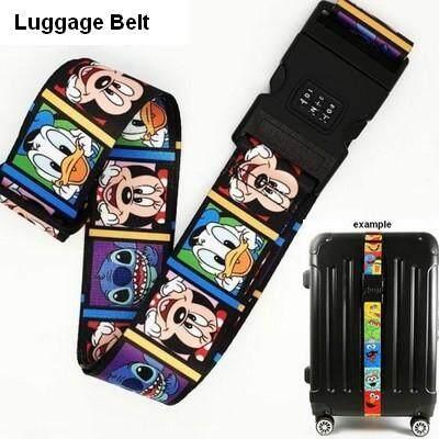 ลดสุดๆ ส่งฟรี kerry !!! ขาย Luggage Belt สายรัดกระเป๋าเดินทาง สายคาด สายล็อค มีรหัสล็อคบนสาย มิกกี้เม้าส์ สีดำ