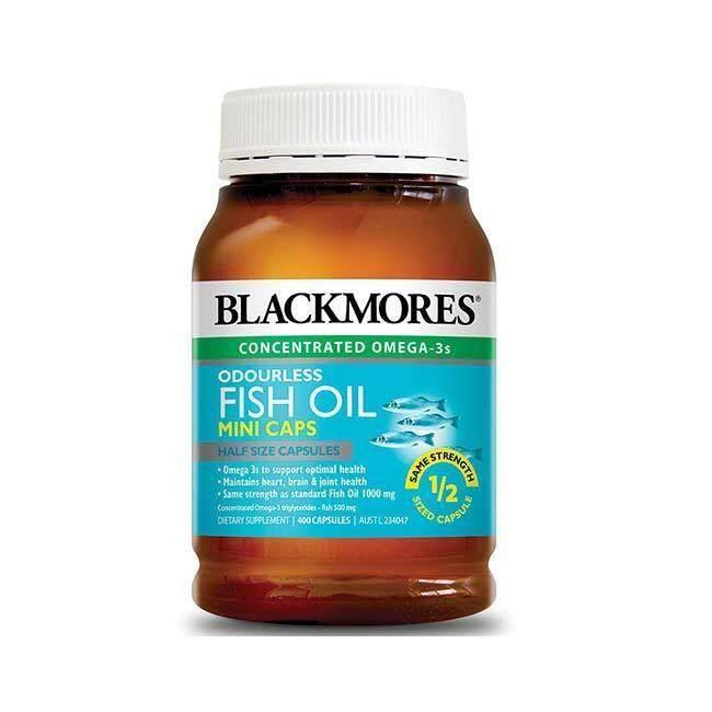 การใช้งาน  อุทัยธานี Blackmores Odourless Fish Oil Mini Caps(400เม็ด)