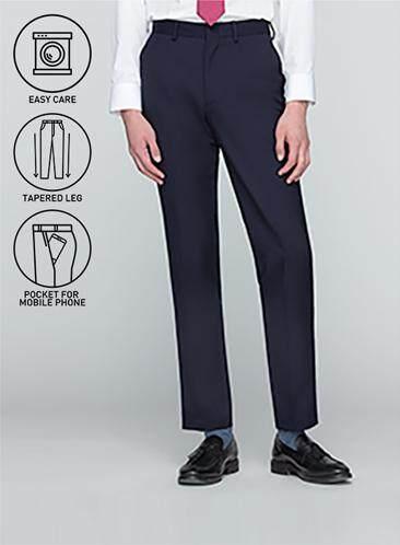 ส่วนลด GQWhite ฉะเชิงเทรา GQSize กางเกงขายาว - GQ  Slacks  Long Pants Wool Blend Fabric Solid  130-810821  Navy