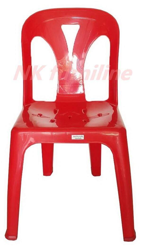 เช่าเก้าอี้ เชียงใหม่ NK Furniline เก้าอี้พลาสติก มีพนักพิง เกรดB+ รุ่น CPB/M - สีแดง