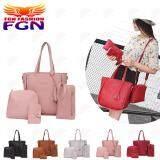 กระเป๋าถือ นักเรียน ผู้หญิง วัยรุ่น เพชรบุรี FGN ชุด 4 ชิ้นผู้หญิงกระเป๋ากระเป๋าสะพายกระเป๋าถือ   Crossbody   คลัทช์   กระเป๋าเก็บบัตร FGN 078  Fashion Bag (สีชมพู)