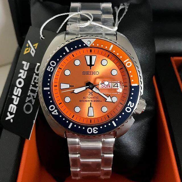 ยี่ห้อนี้ดีไหม  บึงกาฬ Seiko Prospex Orange Turtle Limited Edition นาฬิกาข้อมือชาย รุ่น SRPC95K1 สายสแตนเลส
