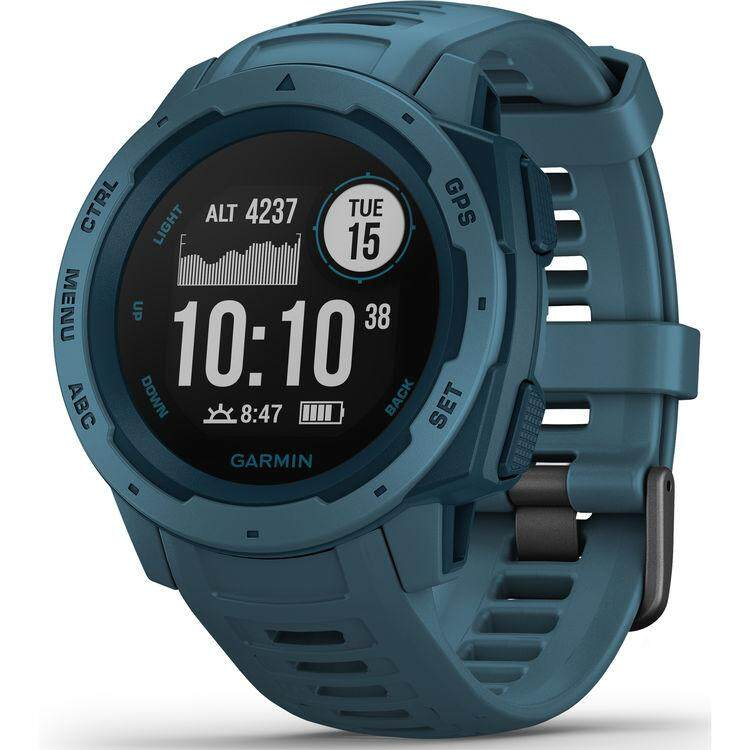 ยี่ห้อนี้ดีไหม  บึงกาฬ Garmin Instinct Outdoor GPS Watch - [Lakeside Blue]