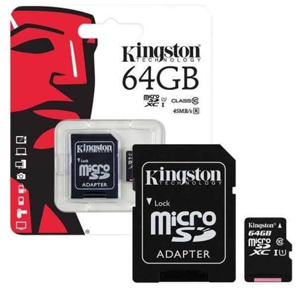 Micro SD Card Kingston 64 GB Class 10  รับประกันของแท้ จัดส่งด่วนโดย Kerry Express