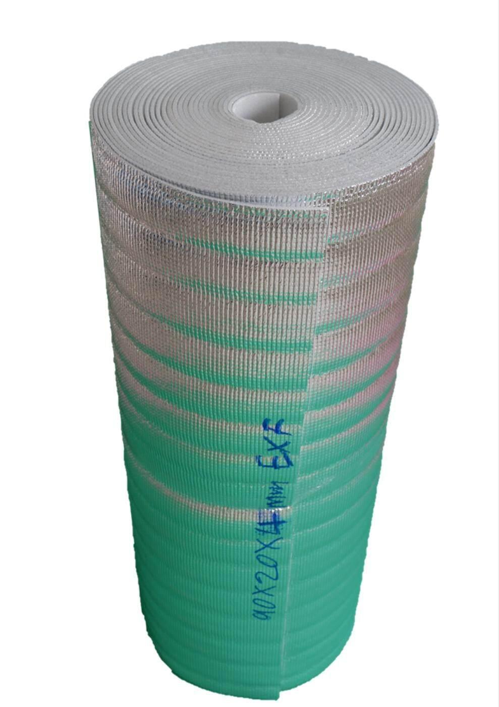 ฉนวนกันความร้อน PE เคลือบฟอยล์ลดความร้อน หนา 4mm.กว้าง 90cm.ยาว 20m (ส่งฟรีKerry) แผ่นฉนวนกันความร้อน เก็บความเย็น แผ่นโฟมเคลือบฟอยล์ PE(Polyethylene) ขนาด 5mm x 90cm x 20m