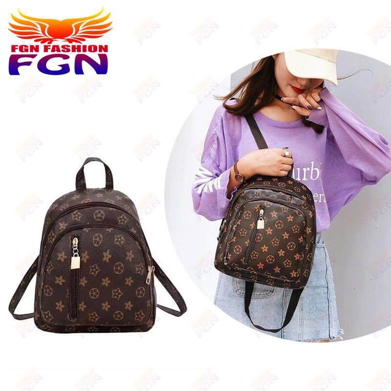 กระเป๋าเป้ นักเรียน ผู้หญิง วัยรุ่น อ่างทอง FGN korea bag กระเป๋า กระเป๋าเป้ Fashion Bag กระเป๋าสะพายหลัง Backpack FGN 087 (สีน้ำตาล)