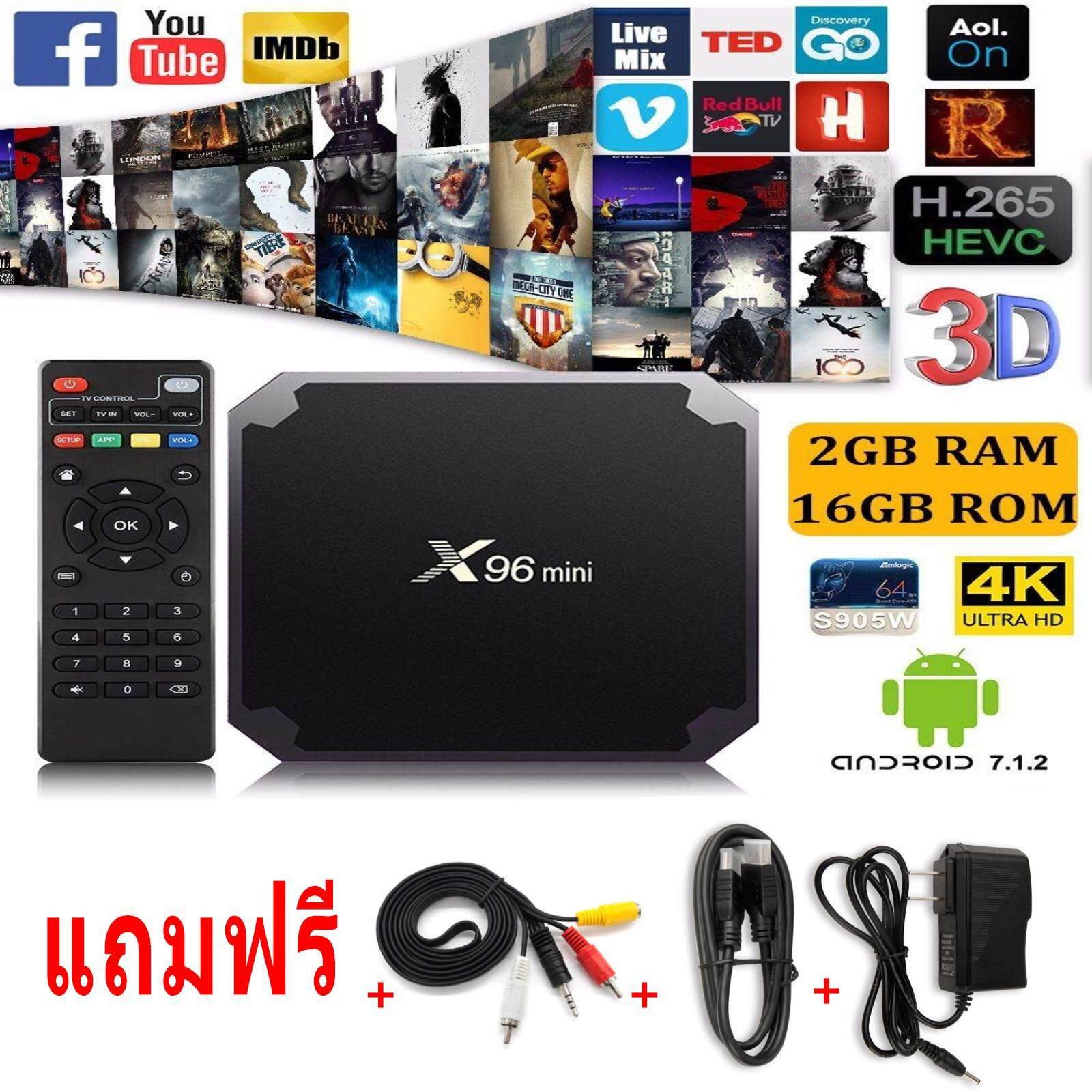 ทำบัตรเครดิตออนไลน์  ลำพูน X96mini Android TV Box 7.1.2 แรม2GB/ 16GB Amlogic S905W Coretex A53 64-Bit CPU