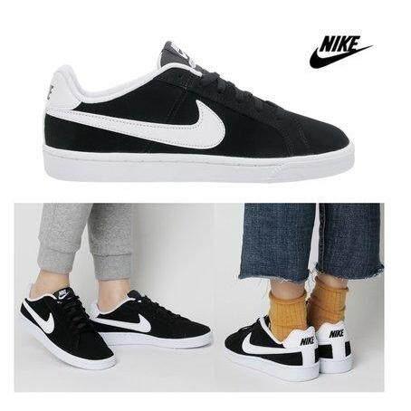 ขายดีมาก! Nike รองเท้า ผ้าใบ ผู้หญิง ลำลอง ไนกี้ Court Royale Black White สบายเท้า ลิขสิทธิ์แท้ การันตี ส่งไวด้วย kerry!!!