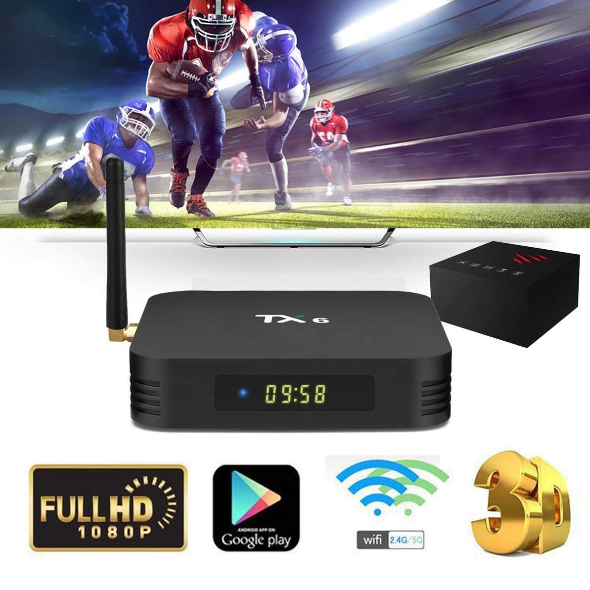 สินเชื่อบุคคลซิตี้  กาฬสินธุ์ TX6 Allwinner H6 Ram 4GB / 32GB Android 9.0 กล่องทีวี 4K TV Box รุ่นใหม่ปี 2019 TX6 Quad Core รองรับบลูทูธ +แอพดูฟรีทีวีออนไลน์ ละคร ย้อนหลัง ฟังเพลง ยูทูป กูเกิล เฟซบุ๊ค