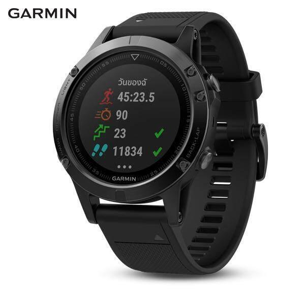 การใช้งาน  ตราด GARMIN SMARTWATCH รุ่น Fenix 5  Sapphire  Black  GPS Watch  SEA (รับประกันศูนย์ไทย 1 ปี)