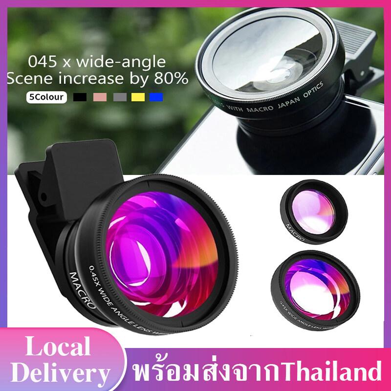 เลนส์เสริมมือถือ เลนส์กล้องมือถือ เลนส์กล้องโทรศัพท์ เลนส์มาโคร เลนส์ไวด์ 0.45X Wide Angle+15X เลนล์เสริมโทรศัพท์ Lens Wide angle lenses Macro Lenses J17