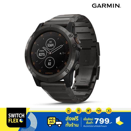 สอนใช้งาน  เพชรบุรี Garmin Smartwatch รุ่น Fenix 5 Plus - Sapphire Titanium