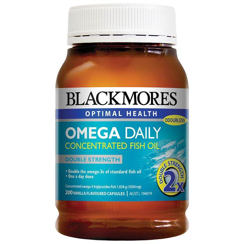ยี่ห้อนี้ดีไหม  กาญจนบุรี Blackmores Omega Daily 200 เม็ด น้ำมันปลาเข้มข้น สูตรไร้กลิ่นคาว