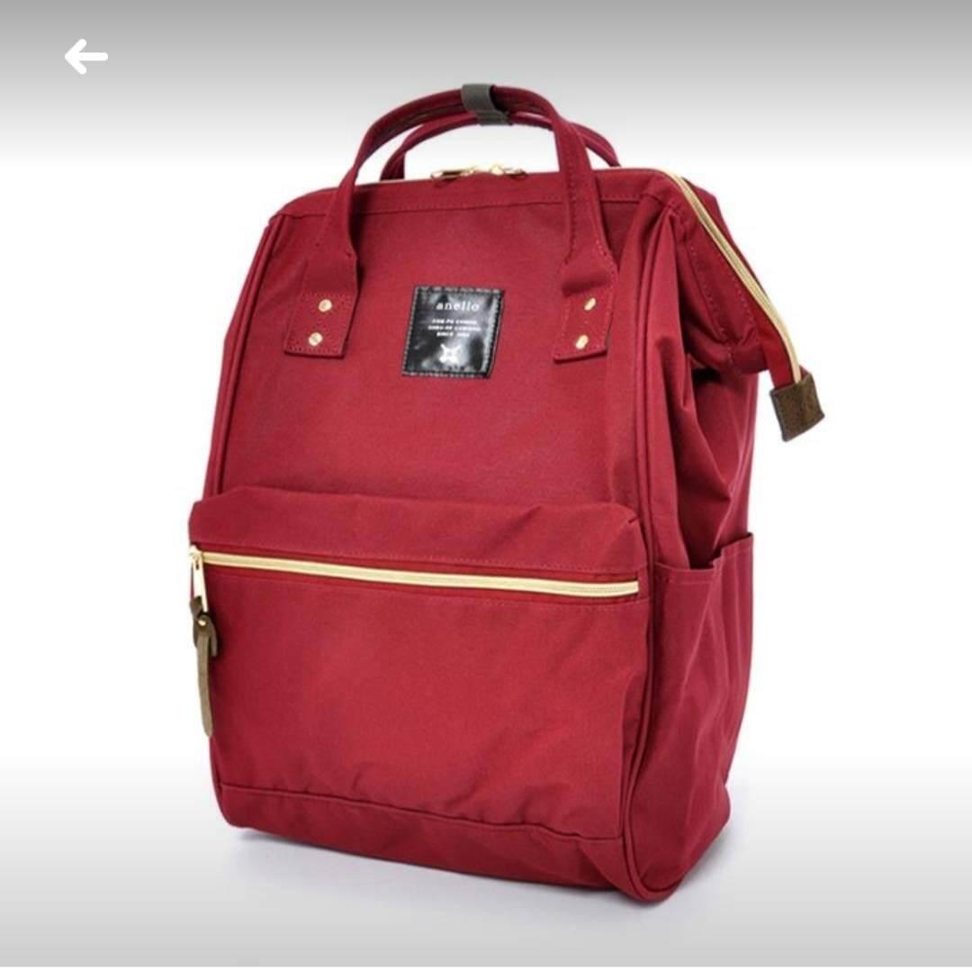 ยี่ห้อนี้ดีไหม  นครพนม Anello Regular Backpack ไวน์แดง