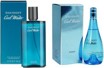 Davidoffน้ำหอม Davidoff Cool Water For Men 125 ml.+ Davidoff Cool Water For Women 100 ml.