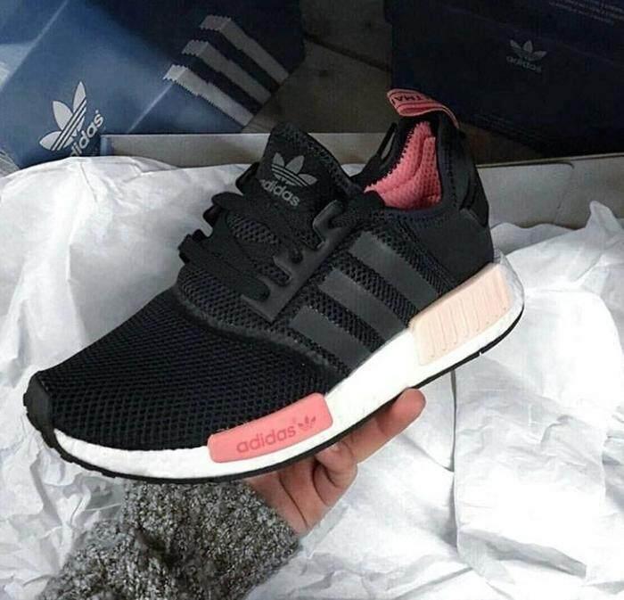 การใช้งาน  อ่างทอง รองเท้าผ้าใบ NMD R1 Peach Pink Black ( แท้ 100%)